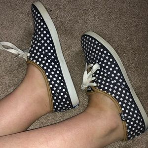 Well Worn Ked Navy Polka Dot Shoes Preowned 7.5